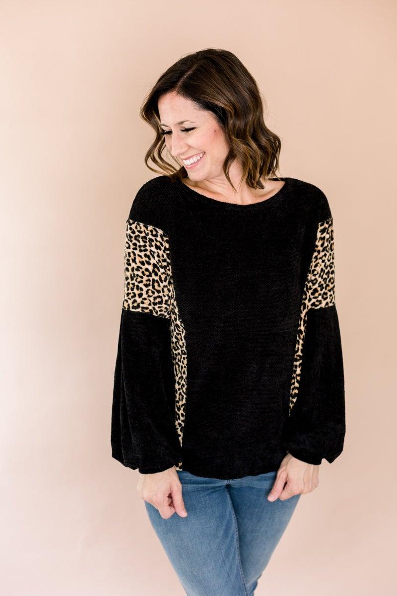 Chenille Leopard Sweater