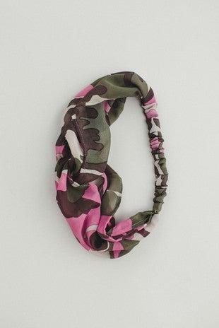 Pink Camo Headband