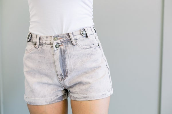 Plum Stone Wash Shorts