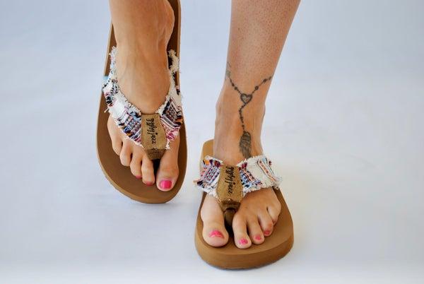 Sandal: Cream Multi