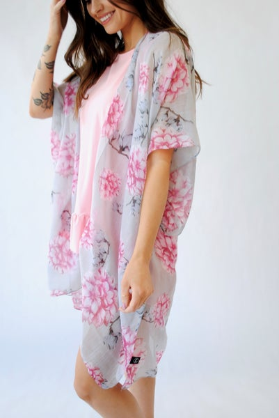 Flirty Floral Kimono