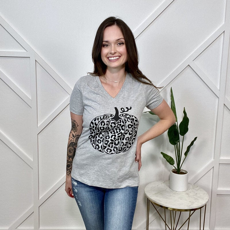 Leopard Pumpkin Graphic Tee