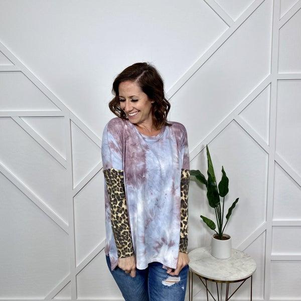 Tie Dye/Leopard Long Sleeve