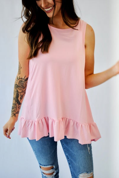Summer Vibin' Tank: Pink