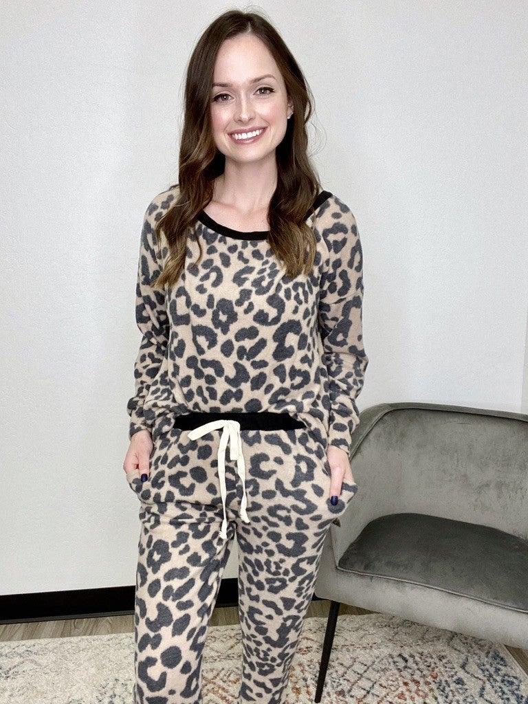 Leopard Fleece Lounge set