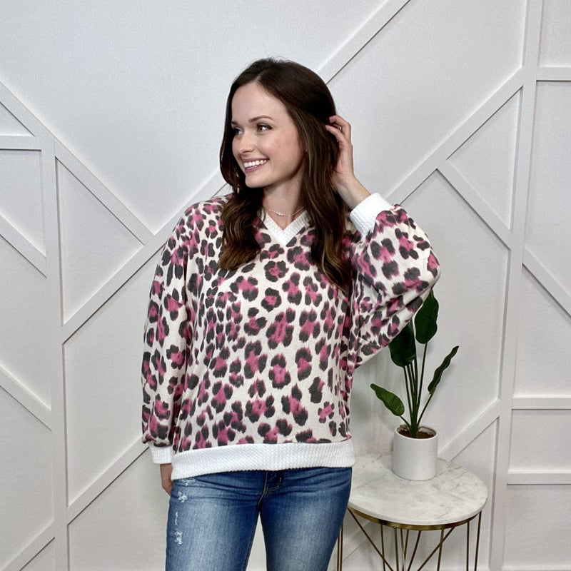 Pink Leopard Long Sleeve with Peek A Boo