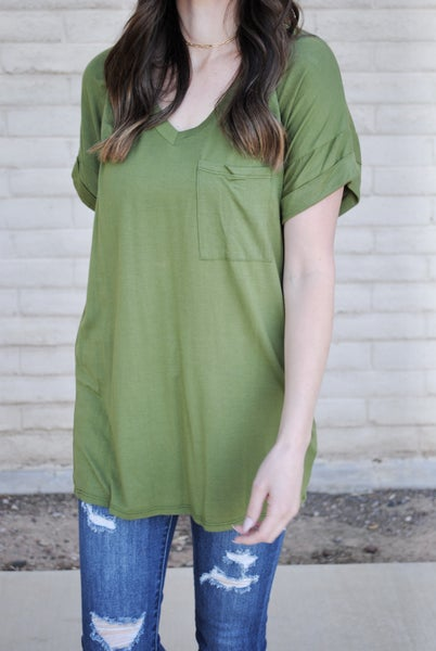 Hunter Green Boyfriend Tee