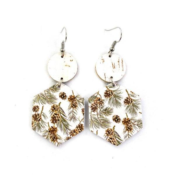 Winter Pine Cone Earrings