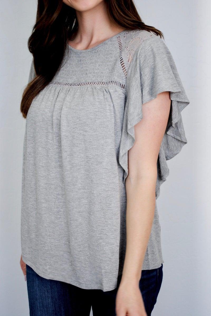 Pretty in Grey Top