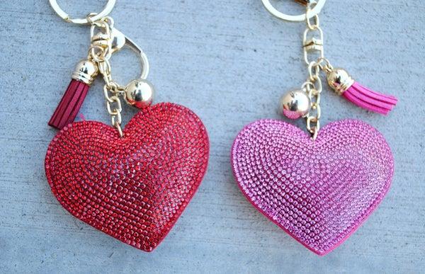 Heart Bling Keychain