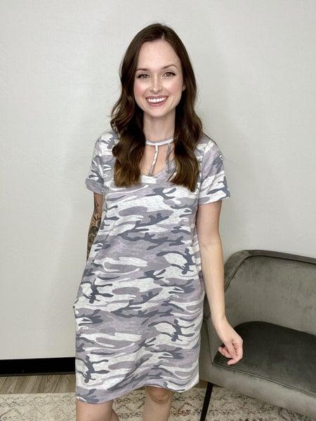 Grey Camo Dress