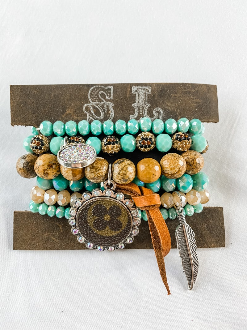 Upcycled Bracelet Stack #14