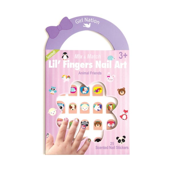 Lil' Fingers Nail Art- Animal Friends