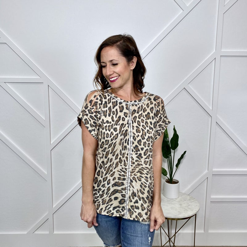 Leopard Top with Front Seam