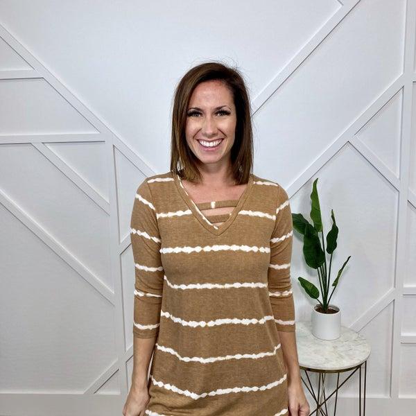 Carmel Tie Dye Sweater Top