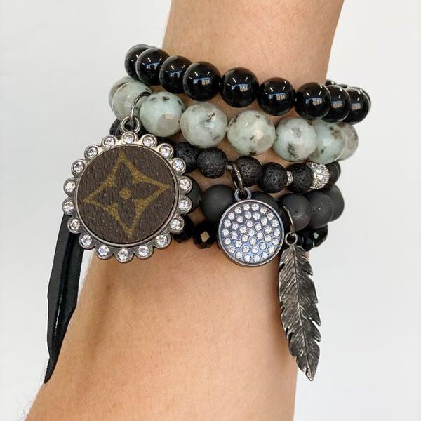 Upcycled Bracelet Stack #8