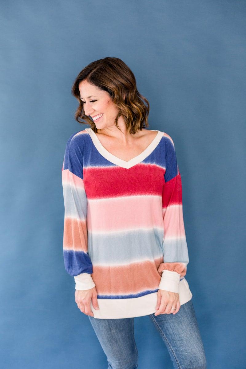 Long Sleeve Tie Dye Sweater