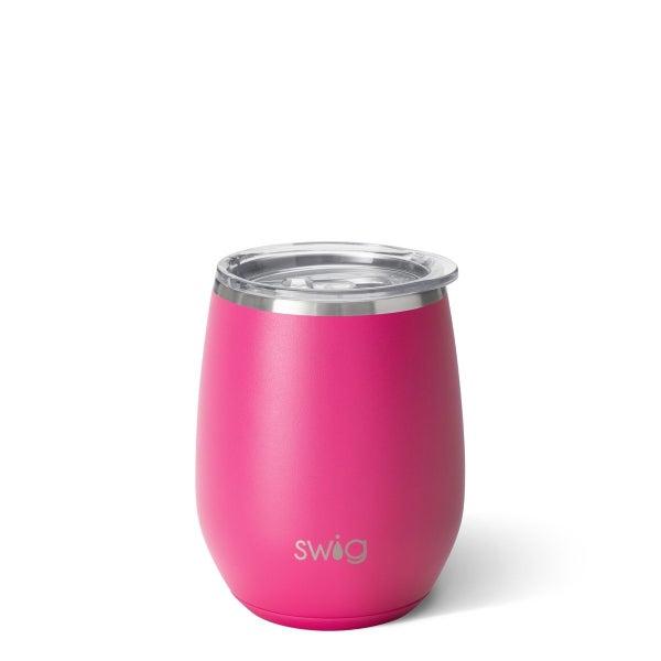 Matte Hot Pink Wine Cup
