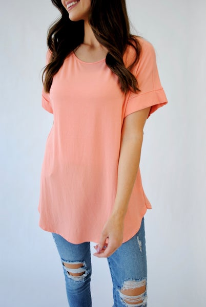 The Everyday Tee: Coral