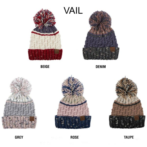 CC Vail Specked Pom Hat