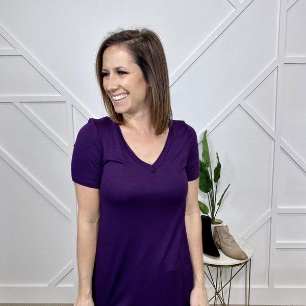 Basic V-Neck: Purple