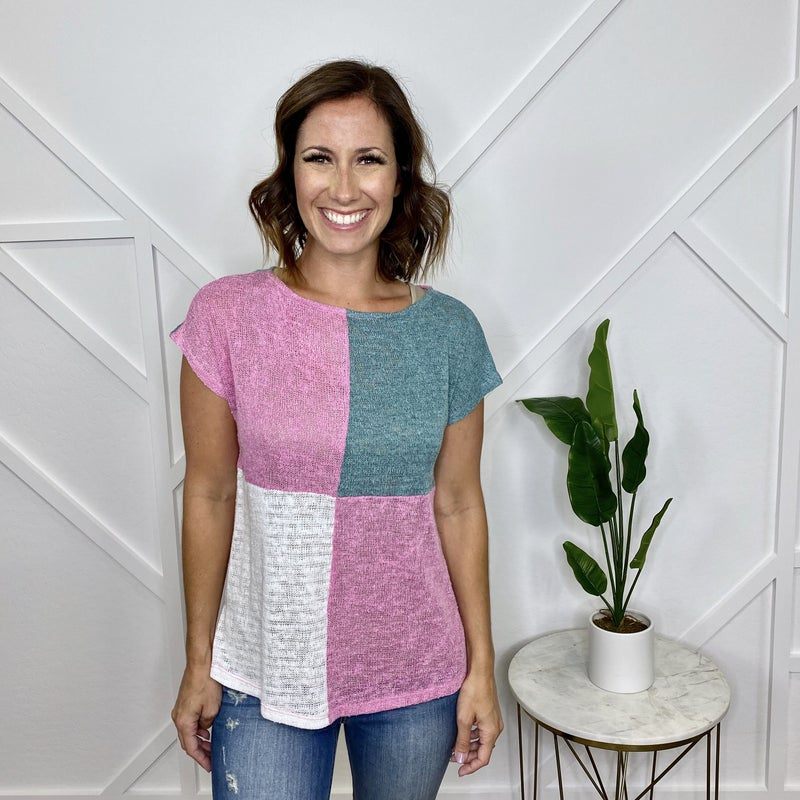 Tri Color Block Top