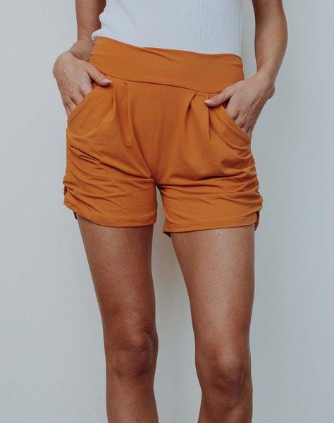 Mustard Harem Shorts