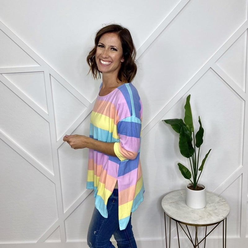 Rainbow Stripe Tunic