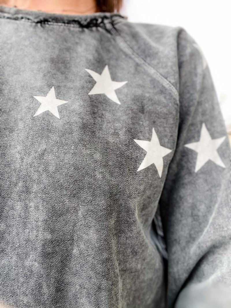 Charcoal Star Pullover