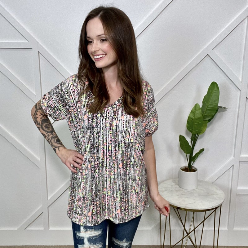Neon Speckled Top