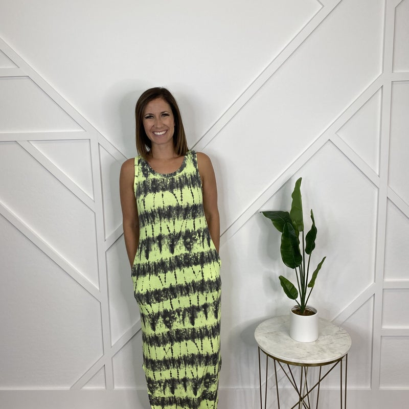 Lime Tie Dye Dress