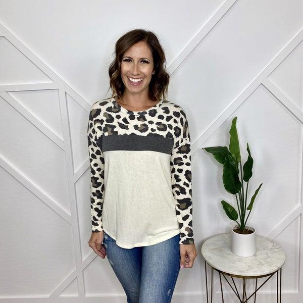 Long Sleeve Leopard Top