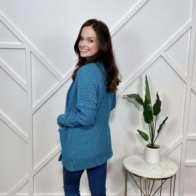 Teal Knit Cardigan