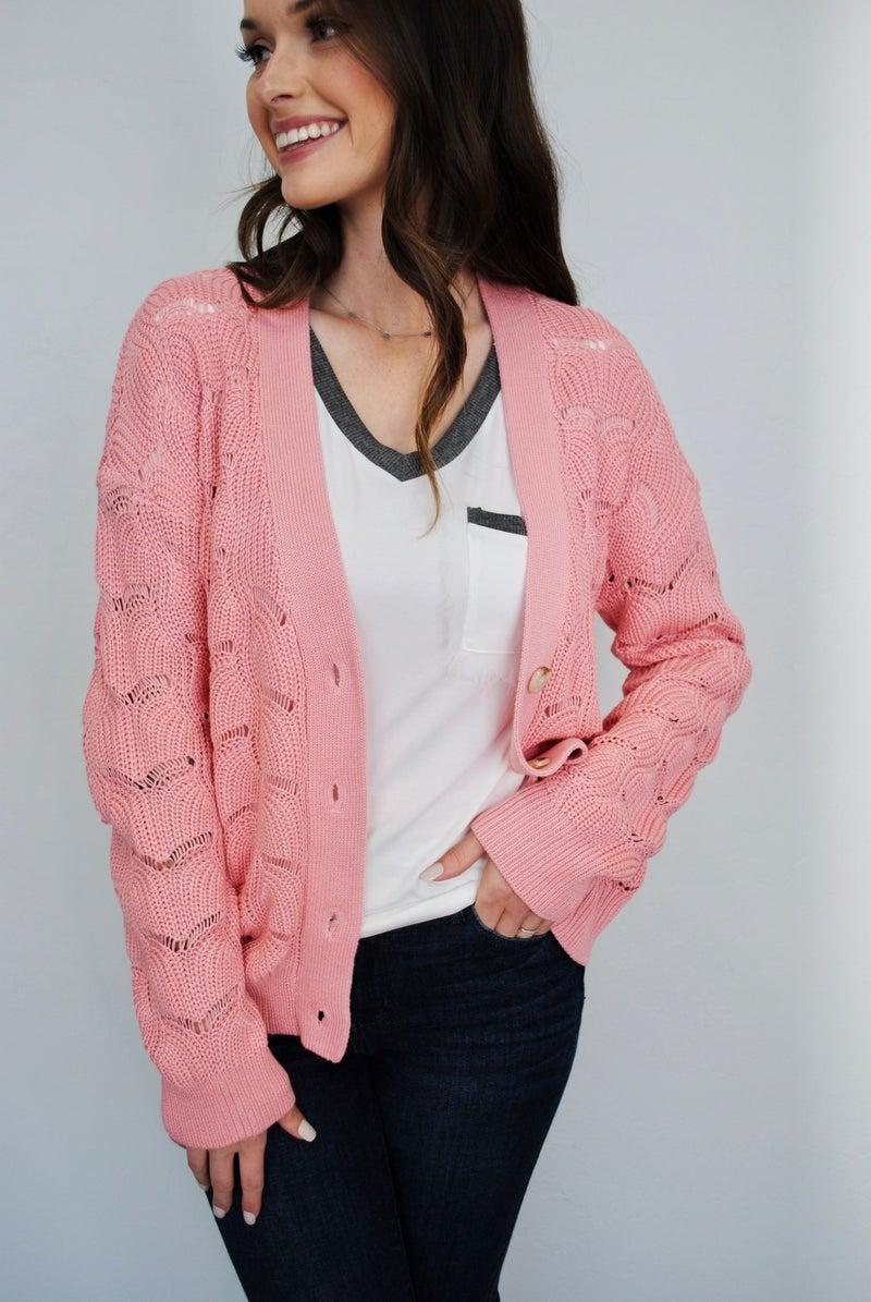 Blush Knit Cardigan