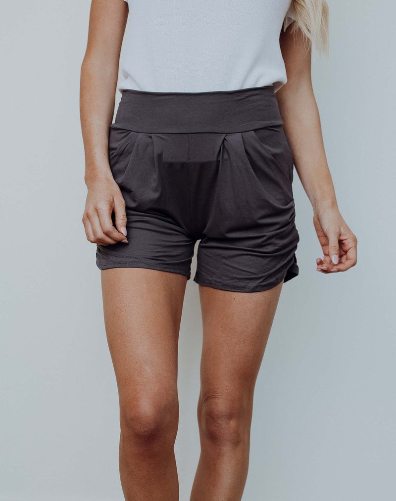 Charcoal Harem Shorts