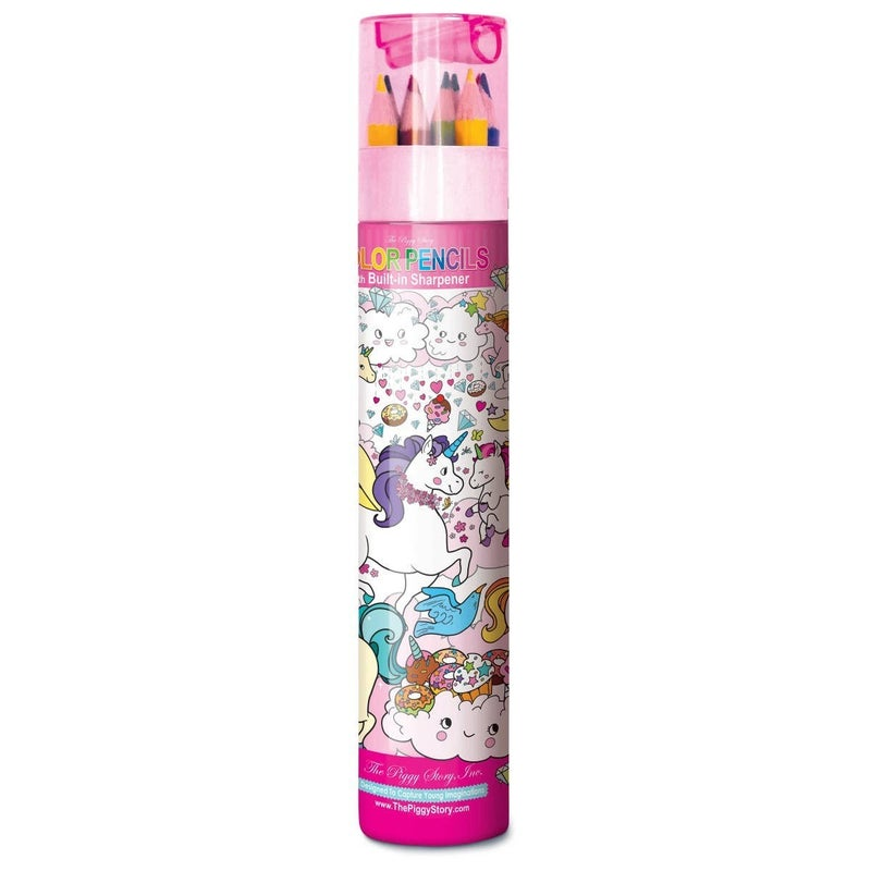 Unicorn Land Color Pencils With Sharpener