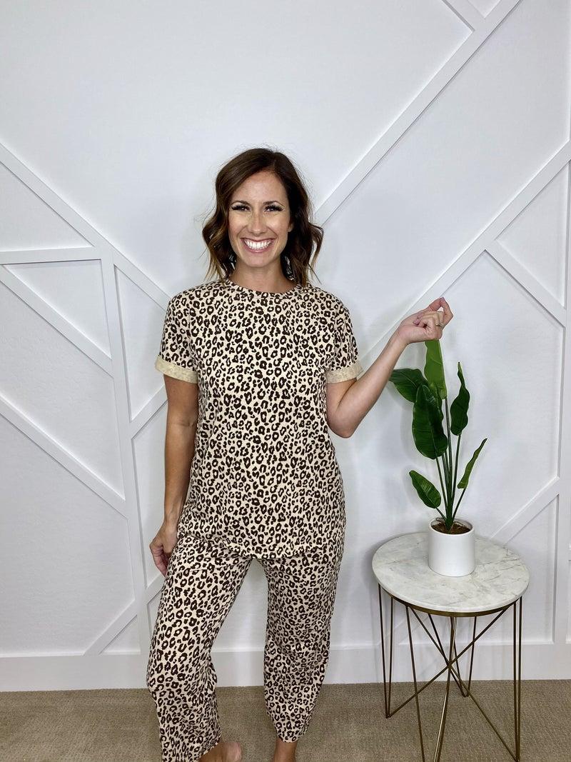 Cheetah Print Lounge Set