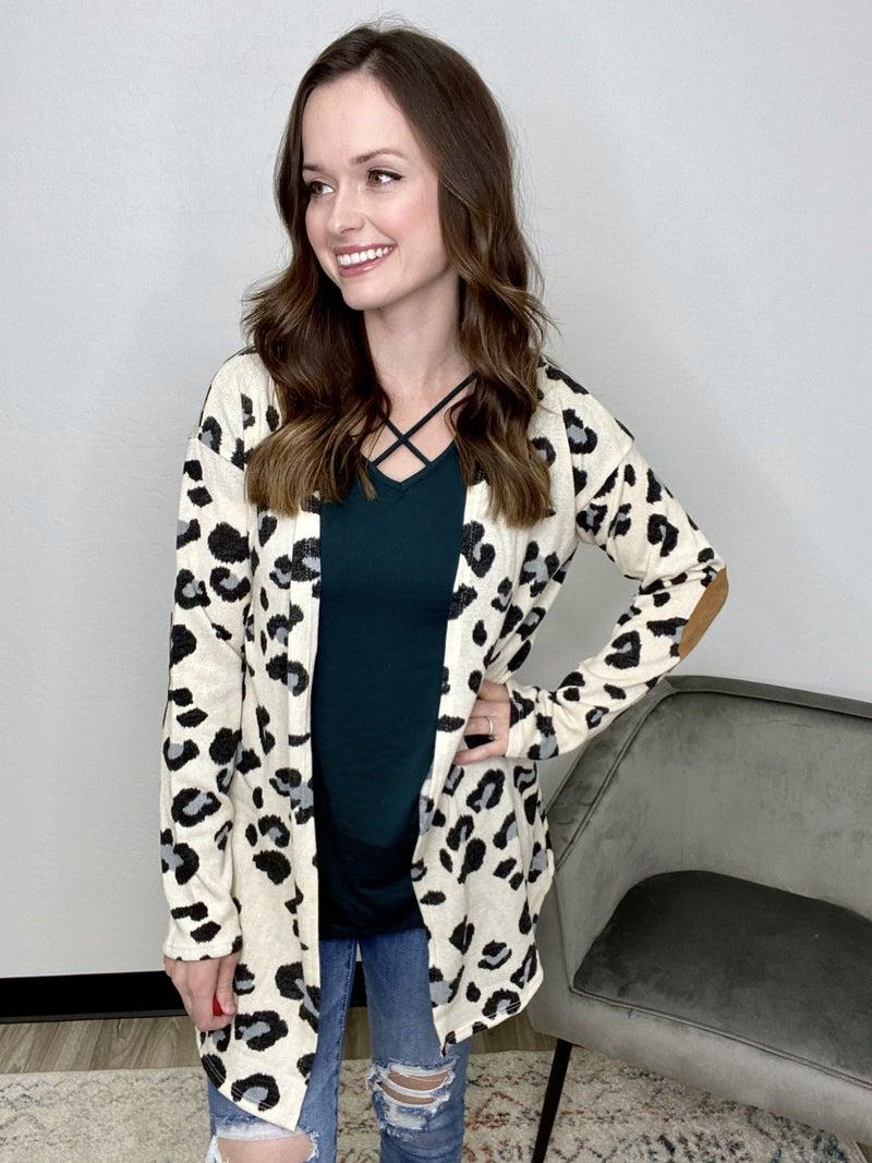 Ivory Leopard Cardigan