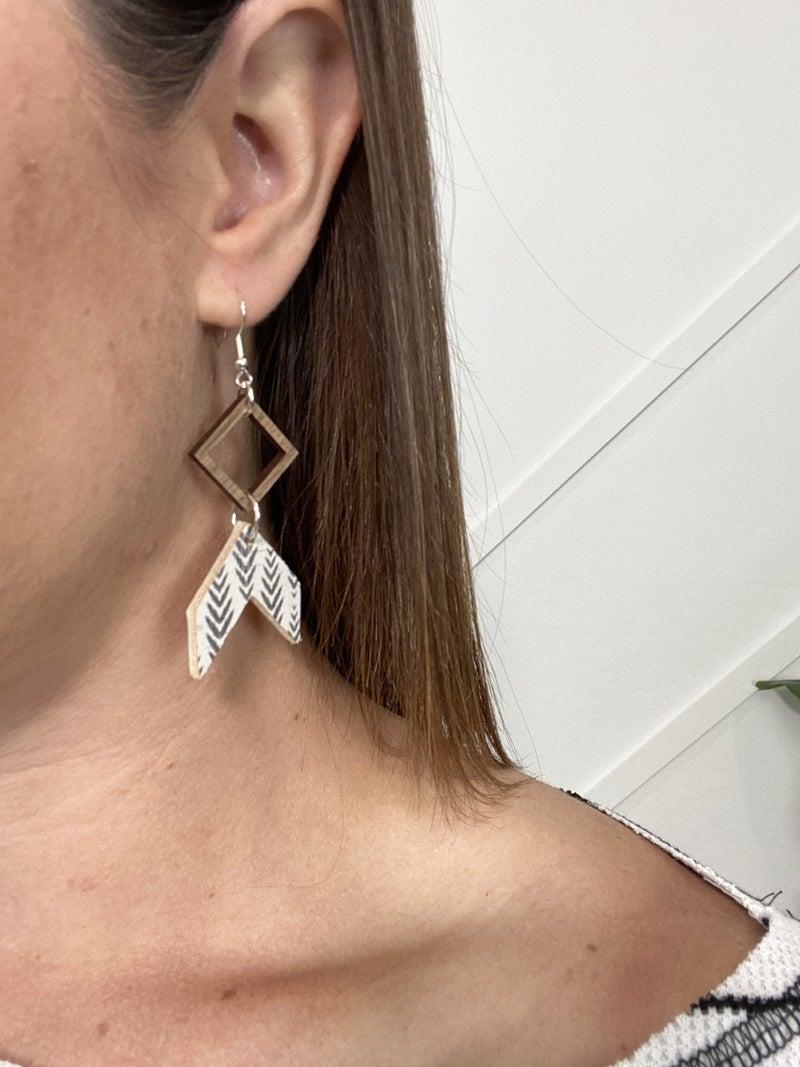 Wooden Arrow Earring