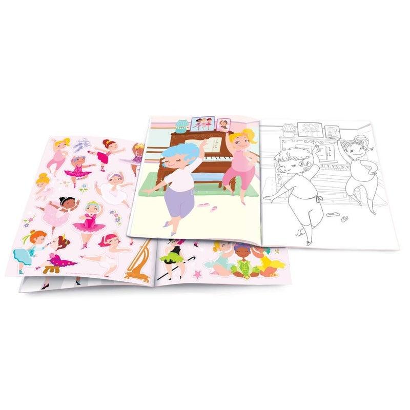 Pretty Ballerina Dry Erase Coloring Book