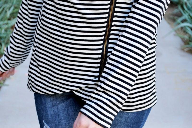 B/W Striped Jacket