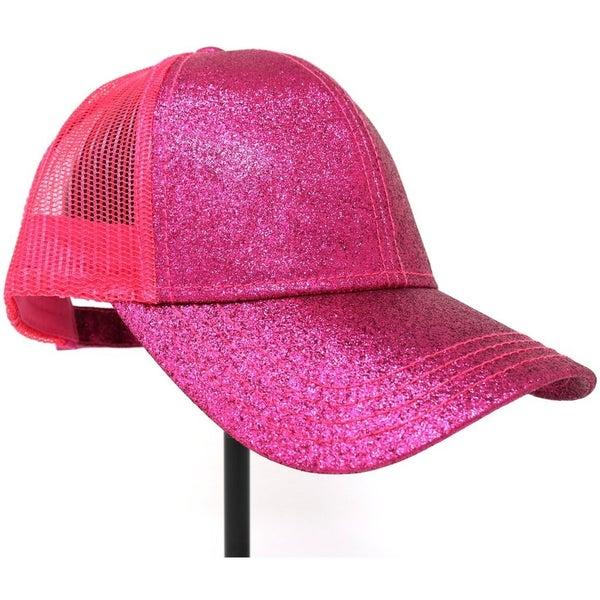 Glitter High Ponytail CC Hat