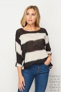Stripe Knit Tunic