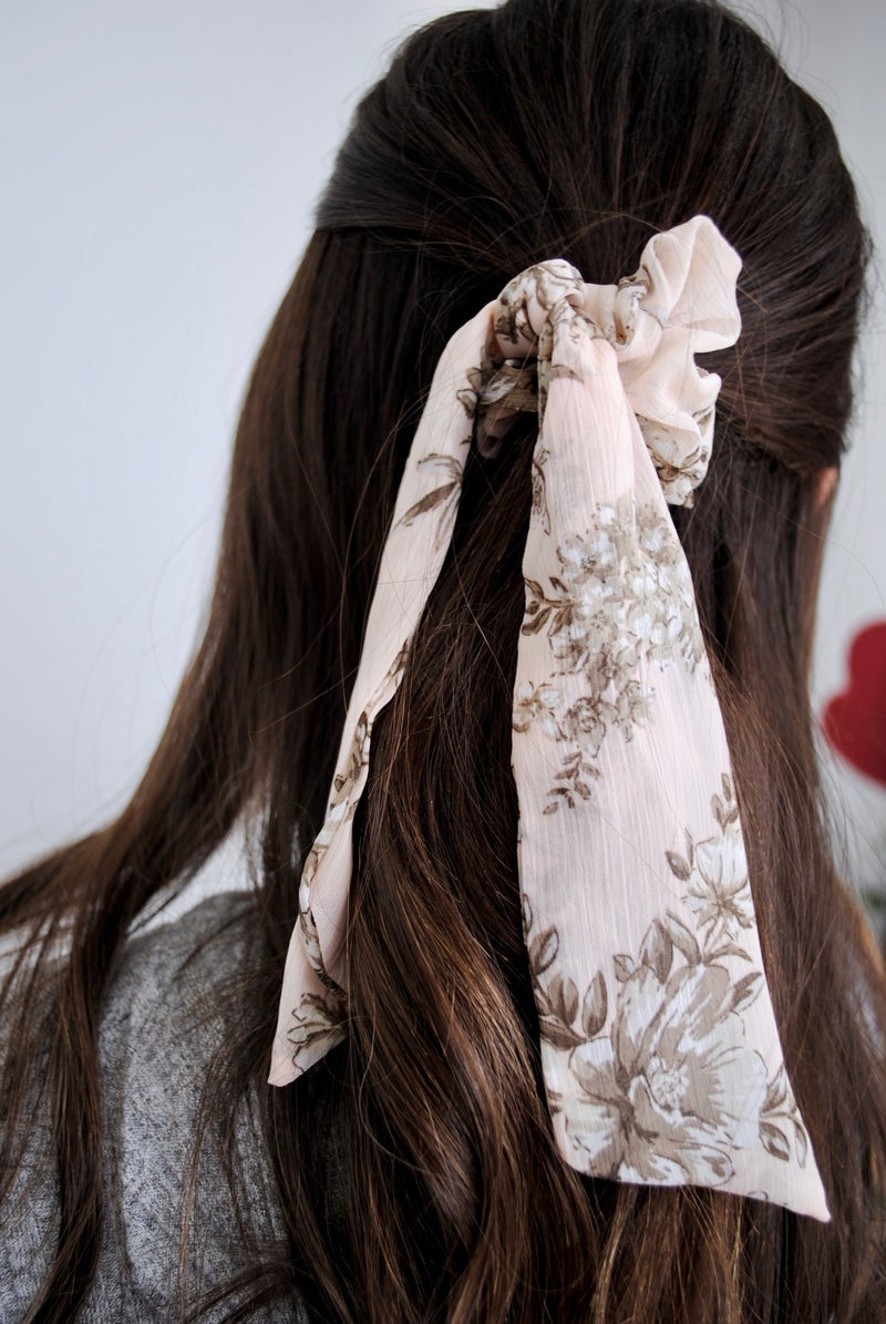 Chiffon Bandana Hair Tie