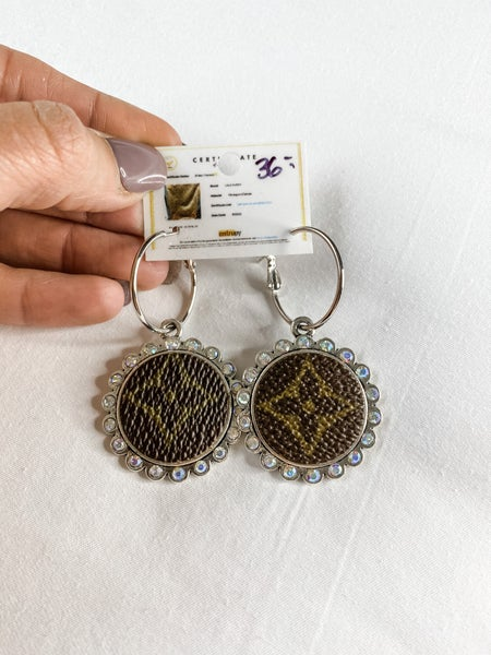 Upcycled Medium Circle Earrings: Silver