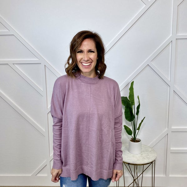 Purple Dolman Sleeve Sweater