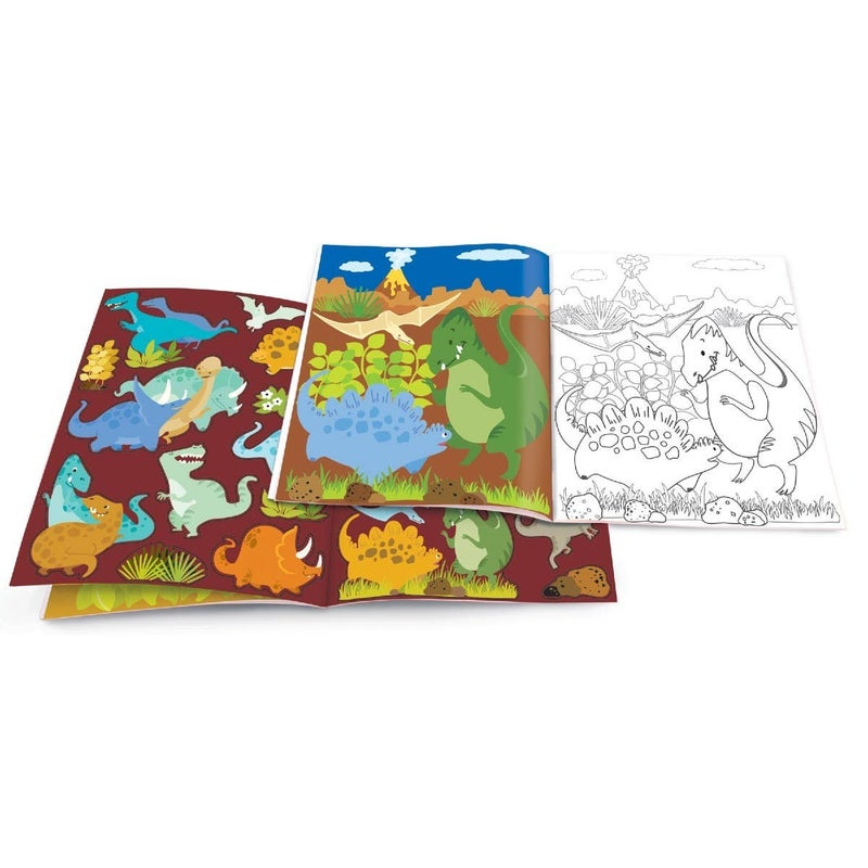 Dinosaur World Dry Erase Coloring Book