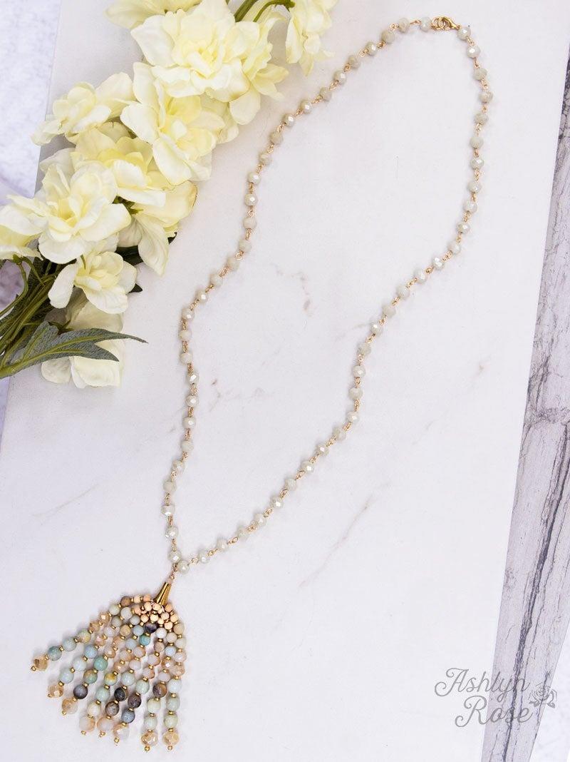 Beaded Bounty Necklace with Fully Beaded Tassel