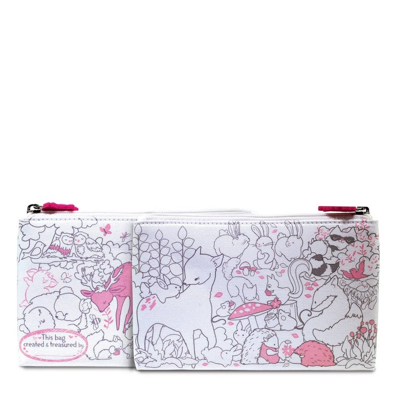 Creative Coloring: Carry All Pouch- Fox & Woodland Friends