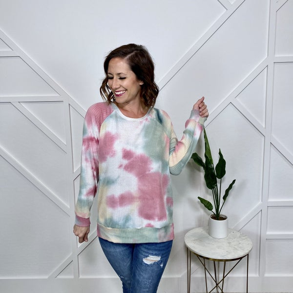 Multi Color Waffle Knit Long sleeve